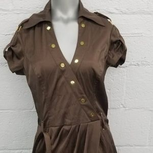 NWT Cache Latte Satin Dress